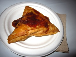 A vegetarian samosa from Magic Oven in Toronto