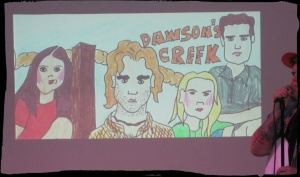 Dawson's Creek, cartoon styles. Oh wow. Dawson's eyebrows!!