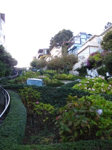 Lombard Street, at the bottom of the windy bit.